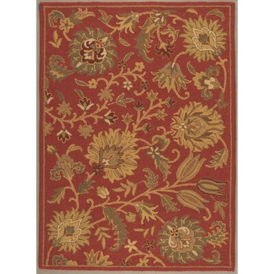 Caseyville Hand-Tufted Rust Area Rug Rug Size: 73 x 93