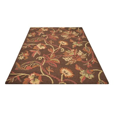 Venedy Brown Hand-Tufted Area Rug Rug Size: 73 x 93