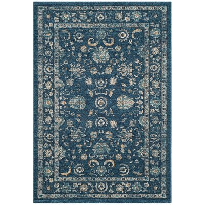 Bahr Navy/Beige Area Rug Rug Size: Rectangle 4 x 6