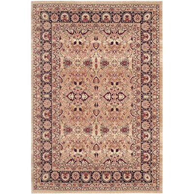 Marion Cream/Navy Area Rug Rug Size: 3 x 5