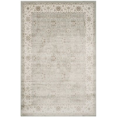Setser Silver/Cream Area Rug Rug Size: Rectangle 67 x 92