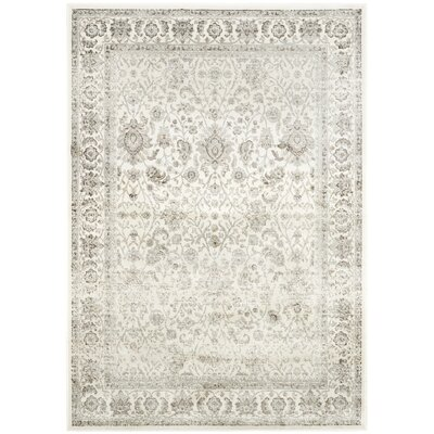 Setser Ivory/Silver Area Rug Rug Size: Rectangle 4 x 57