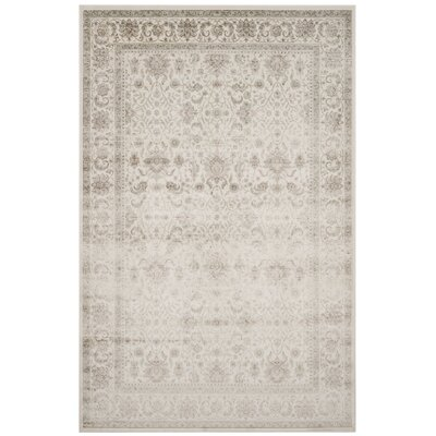 Setser Ivory/Silver Area Rug Rug Size: 67 x 92