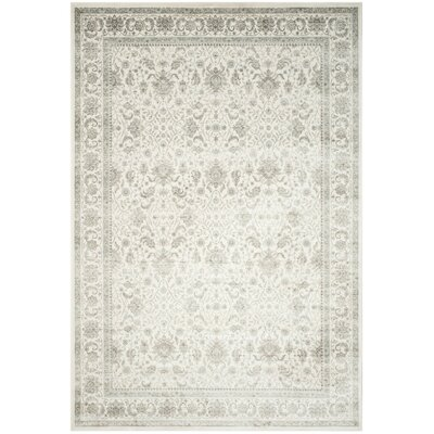 Setser Ivory/Silver Area Rug Rug Size: Rectangle 8 x 11