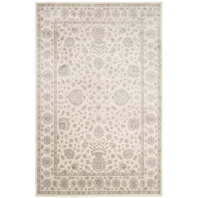 Setser Silver/Cream Area Rug Rug Size: Rectangle 51 x 77