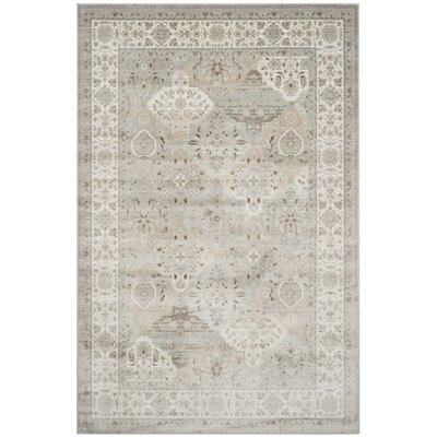 Setser Silver/Ivory Area Rug Rug Size: 51 x 77