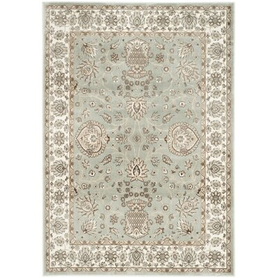Setser Silver/Ivory Area Rug Rug Size: Rectangle 51 x 77