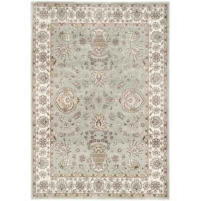 Setser Silver/Ivory Area Rug Rug Size: 67 x 92