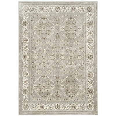 Setser Silver/Ivory Area Rug Rug Size: Rectangle 67 x 92