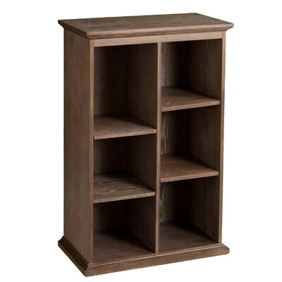 Tillson Burnt Oak Display Shelf 45 Cube Unit Bookcase