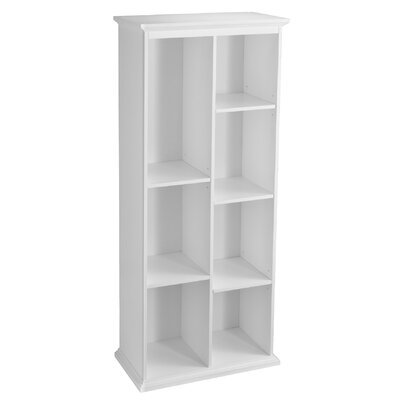 Tillson Tall White Display Shelf 74 Cube Unit Bookcase