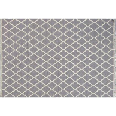 Mackinaw Hand-Woven Gray Area Rug Rug Size: 57 x 79