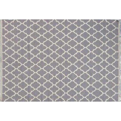 Mackinaw Hand-Woven Gray Area Rug Rug Size: 83 x 116