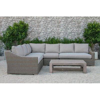 Naperville Outdoor 5 Piece Deep Seating Group with Cushion