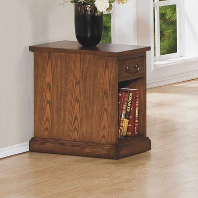 Schueller Chairside Table Color: Medium Oak
