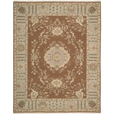Cullen Hand-Woven Rust Area Rug Rug Size: Rectangle 12 x 18