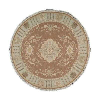 Cullen Hand-Woven Rust Area Rug Rug Size: Round 8