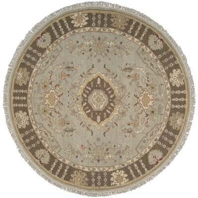 Cullen Hand-Woven Aqua Area Rug Rug Size: Round 8
