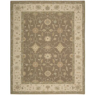 Burnham Hand-Woven Mocha Area Rug Rug Size: Rectangle 910 x 1310