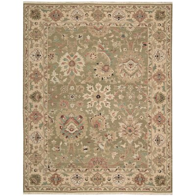 Cullen Hand-Woven Olive Area Rug Rug Size: Rectangle 12 x 15