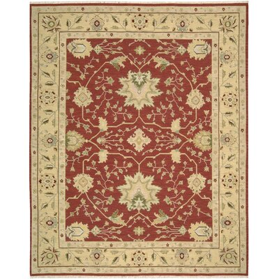Burnham Hand-Woven Red Area Rug Rug Size: 710 x 910