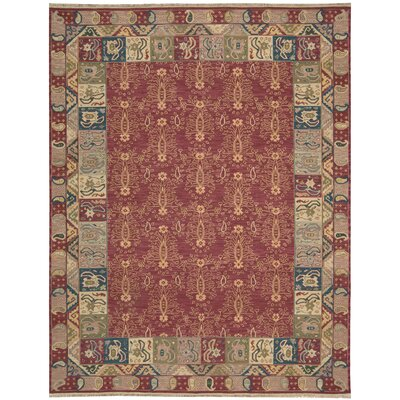 Cullen Hand-Woven Rust Area Rug Rug Size: 710 x 910