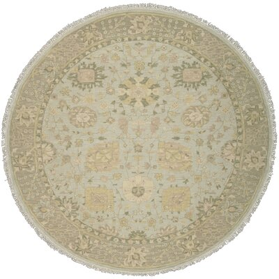 Cullen Hand-Woven Mist Area Rug Rug Size: Round 8