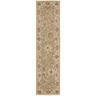 Cullen Hand-Woven Olive Area Rug Rug Size: Runner 26 x 10