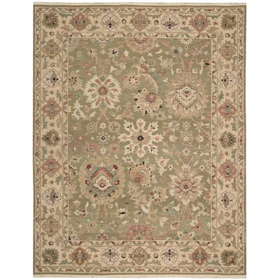 Cullen Hand-Woven Olive Area Rug Rug Size: 310 x 510