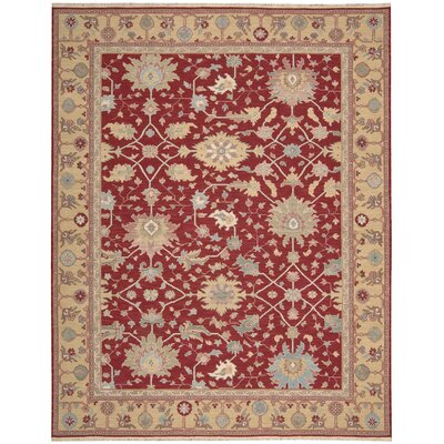 Cullen Hand-Woven Red Area Rug Rug Size: 710 x 910