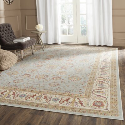 Enlow Silver / Ivory Area Rug Rug Size: 53 x 76