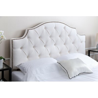 Cowan Queen Upholstered Panel Headboard Upholstery: Ivory