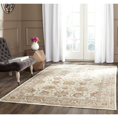 Enlow White/Brown Area Rug Rug Size: Rectangle 4 x 57