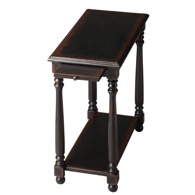Heisler Console End Table Color: Distressed Black Licorice