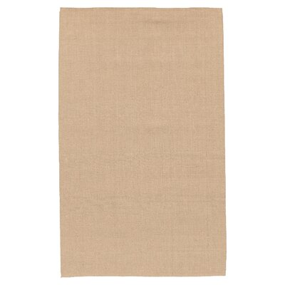 Jute Hand-Woven Tan Area Rug Rug Size: Rectangle 36 x 56