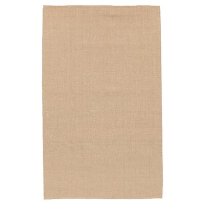 Jute Hand-Woven Tan Area Rug Rug Size: 36 x 56