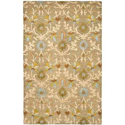 Parker Lane Hand-Tufted Wool Moss/Beige Area Rug Rug Size: Rectangle 5 x 8