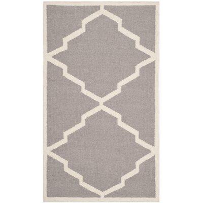 Brambach Grey/Ivory Outdoor Area Rug Rug Size: 26 x 4