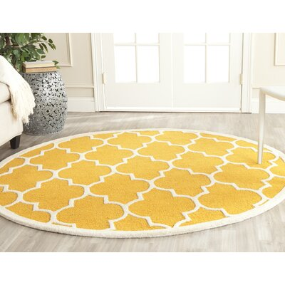 Parker Lane Hand-Tufted Gold / Ivory Area Rug