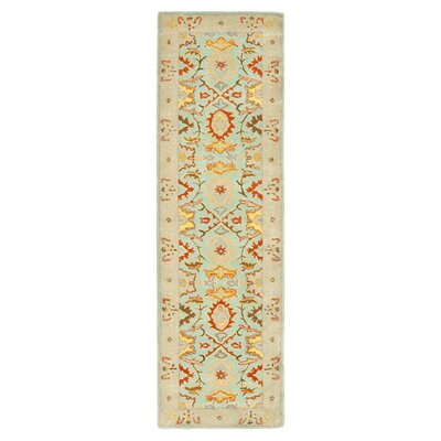 Heritage Light Blue & Ivory Rug Rug Size: Runner 23 x 12
