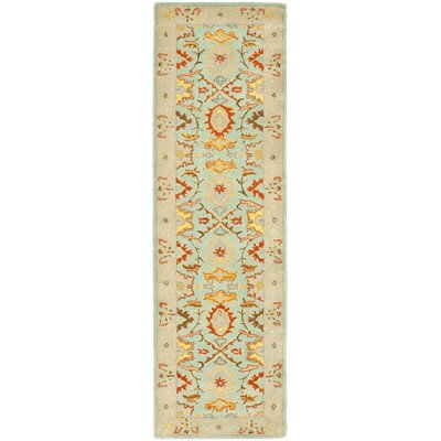 Heritage Light Blue & Ivory Rug Rug Size: Runner 23 x 10