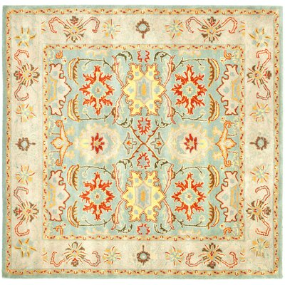 Heritage Light Blue & Ivory Rug Rug Size: Square 6