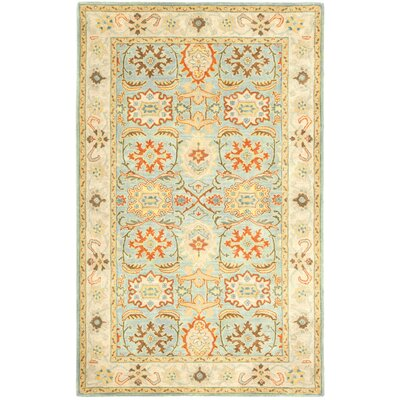 Heritage Light Blue & Ivory Rug Rug Size: Runner 26 x 6