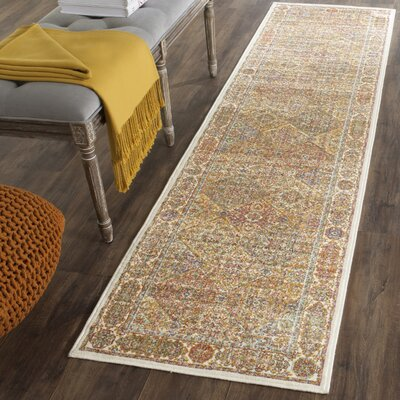 Enlow Ivory Area Rug Rug Size: Runner 21 x 8