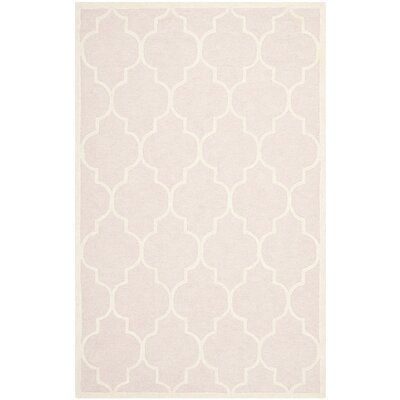 Cambridge Light Pink Area Rug Rug Size: Rectangle 26 x 4