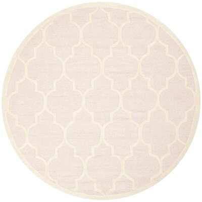Cambridge Light Pink Area Rug Rug Size: Round 6