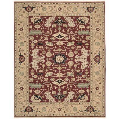 Cullen Handmade Red Area Rug Rug Size: 12 x 15