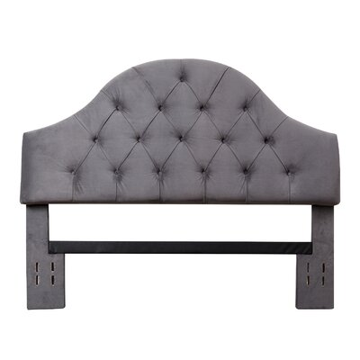 Kerr Upholstered Panel Headboard Size: Full/Queen, Upholstery: Gray