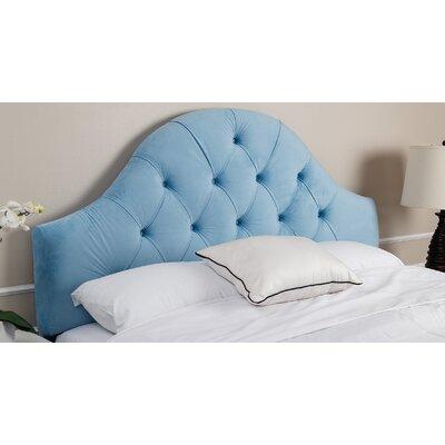 Kerr Upholstered Panel Headboard Size: Full/Queen, Upholstery: Sky Blue