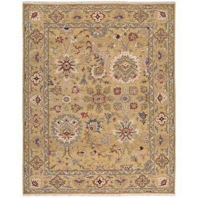 Cullen Hand-Woven Gold Area Rug Rug Size: 310 x 510